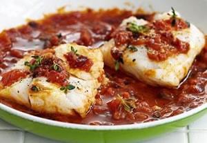 Блюда из припущенной рыбы